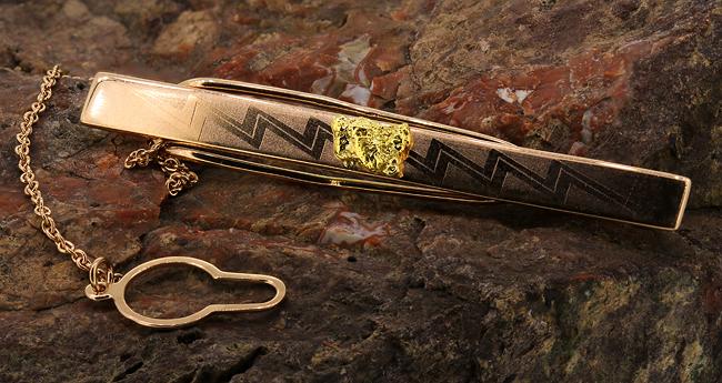 Золотые зажимы для галстука