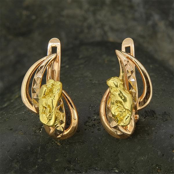 эксклюзивные золотые сережки